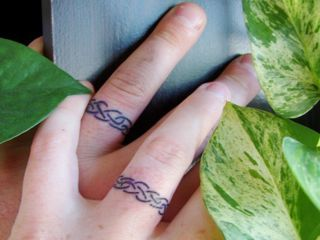 Tattoo\'s designed to be similar to wedding rings <3 would love to ...