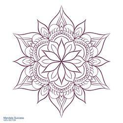 Photo of Vector de stock (libre de regalías) sobre Mandala Success Circular Ornament On White440735908