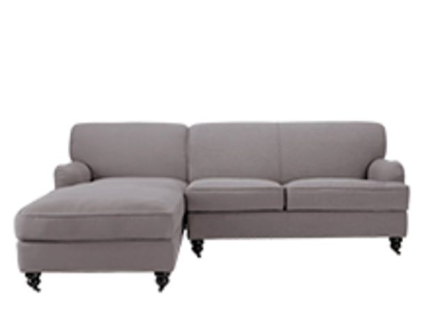Orson Left Hand Facing Corner Unit Graphite Grey Corner Sofa Sofa