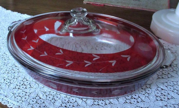 "Vintage Pyrex Dishes   Vintage Pyrex Casserole Dish ""RD"" Extremely Rare Circa 1936-37   pyrex"