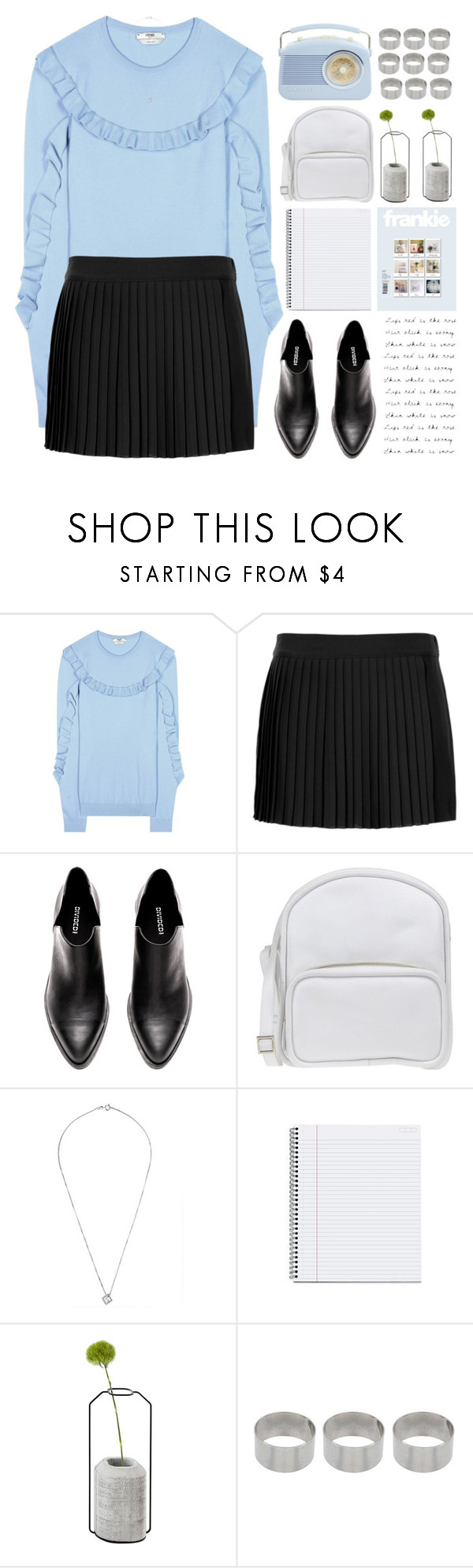 """Untitled #1008"" by chantellehofland ❤ liked on Polyvore featuring Fendi, Topshop, Jil Sander Navy, Spécimen Editions and ASOS"