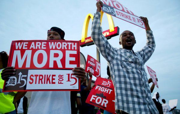 Were Fast Food Workers Paid To Strike And Protest The Response From The Companies Mcdonald S And The National Restaur Fast Food Workers Fast Food Protest