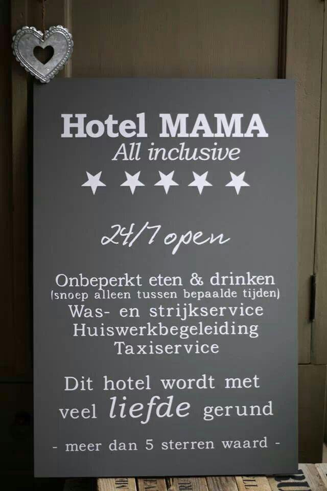 Hotel mama.   Spreuken, gedichten,... - Teksten, Citaten ...