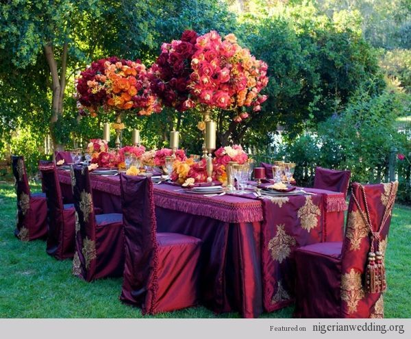 18 Fabulous Wedding Reception Color Scheme Chair Table Covers