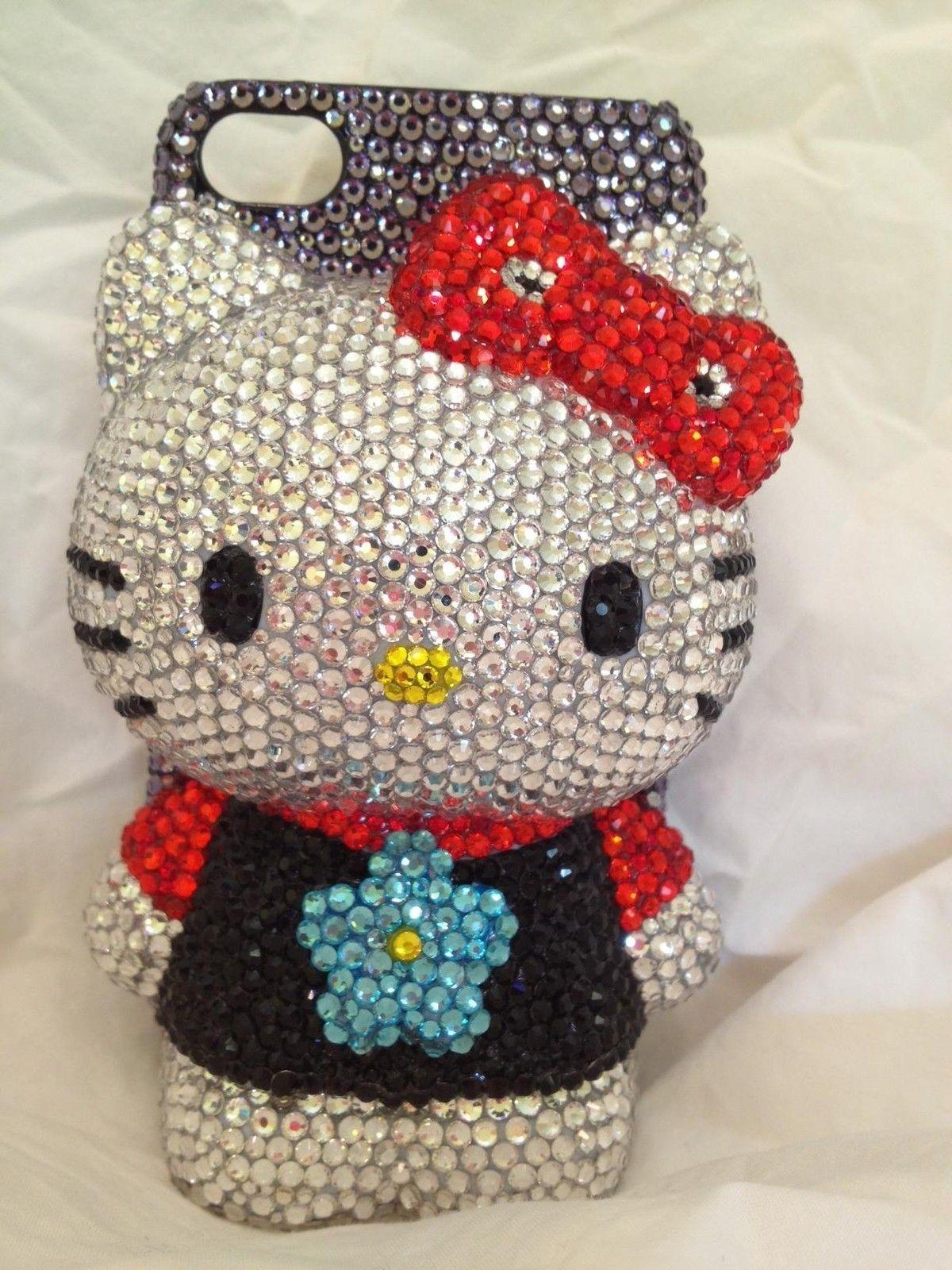Iphone 4 4S bling crystal hello kitty Handmade 3D hard cover case gift | eBay