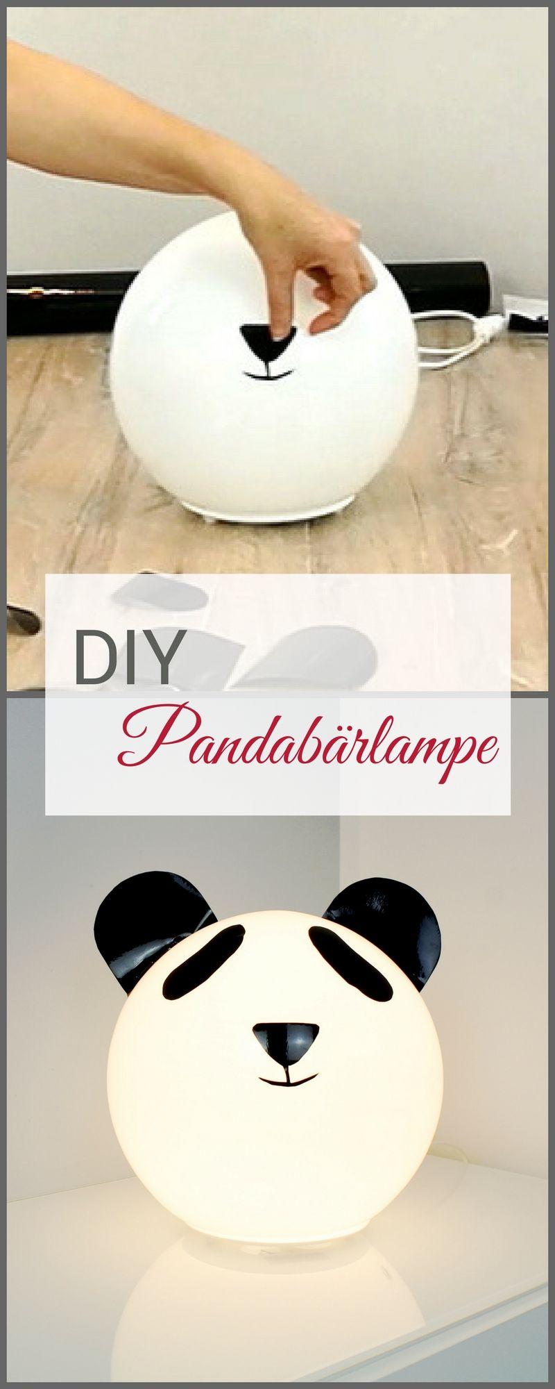 diy kinderzimmer lampe pandab r eine niedliche lampe f r. Black Bedroom Furniture Sets. Home Design Ideas