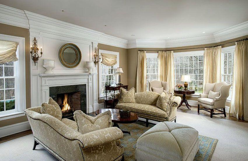 47 Beautiful Living Rooms Interior Design Pictures Bay Window Living Room Furniture Design Living Room Living Room Windows