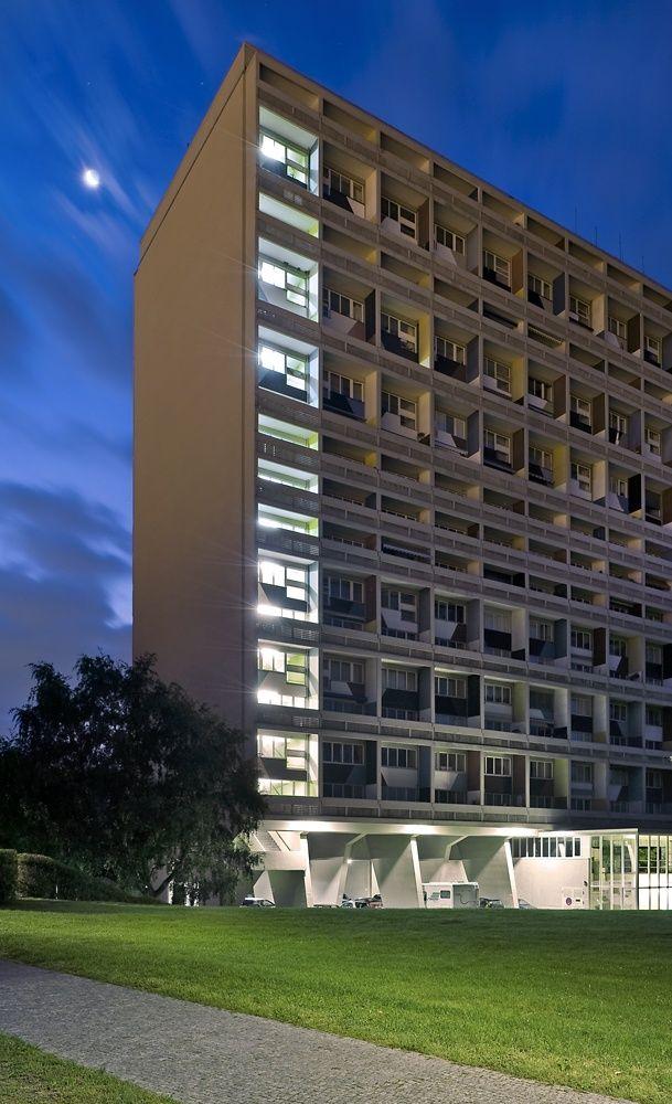 unit d 39 habitation berlin allemagne 1957 le corbusier pinterest le corbusier and. Black Bedroom Furniture Sets. Home Design Ideas