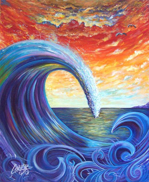 25 Best Ideas About Green Paintings On Pinterest: Best 25+ Wave Art Ideas On Pinterest