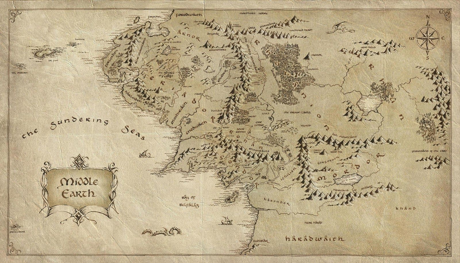 Maps of Middle Earth First Age | map to show the expanse of Middle