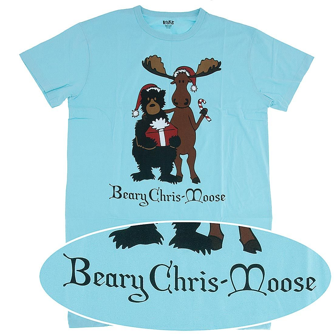 Lazy One Beary Chris-Moose Christmas Nightshirt for Women - Lazy One Cotton  Knit Nightshirts for Women  Buy Two Save  5 e8d29ed57