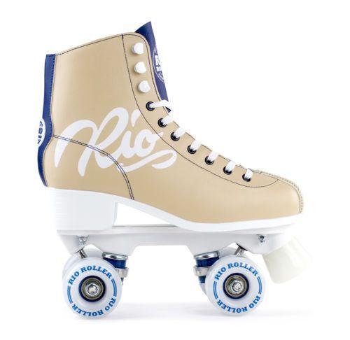Rio Roller - Script Adults Quad Roller Skates - Tan Blue   patins ... 641a2dd59f