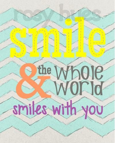 Smile And The Whole World Smiles Art For Kids Playroom Art Wholeness