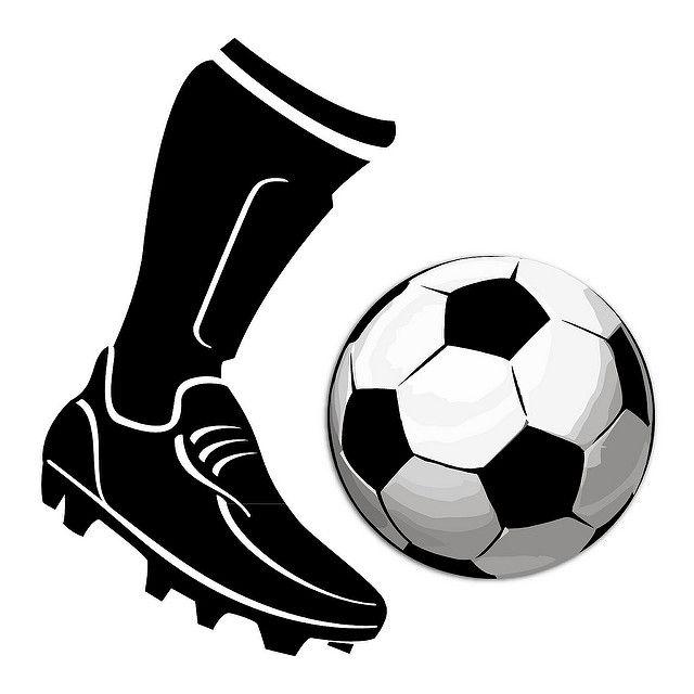 Boot Kicking Football Vector Vector Free Football Draw Boots