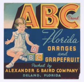 Abc Brand Of Florida Oranges And Grapefruit By Alexander And Baird