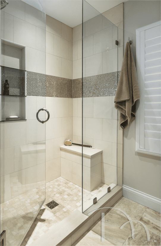 Frontenac Ranch Remodel Addition Shower Accent Tile Bathroom Layout Bathroom Remodel Pictures