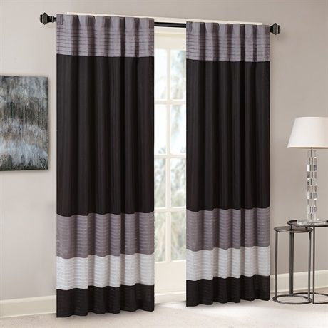 Madison Park Amherst Polyoni Pintuck Window Curtain Designer Living Panel Curtains Curtains Drapes Curtains