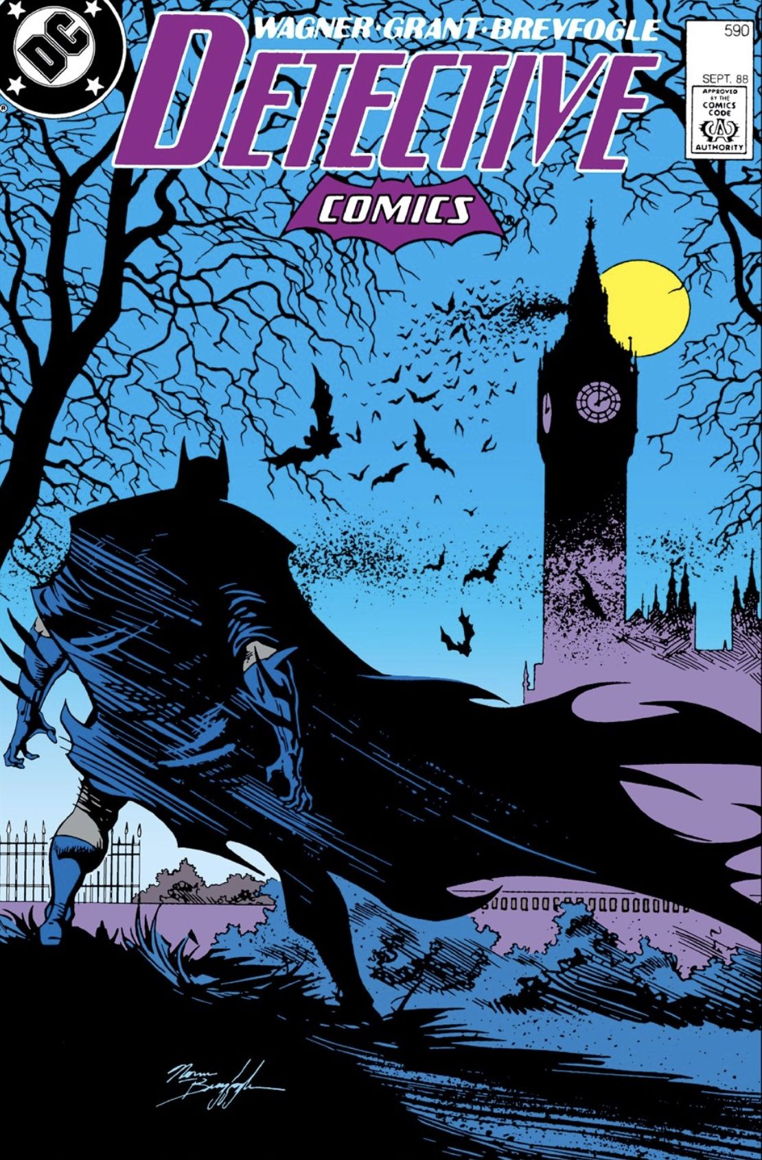 Detective Comics 590 Cover By Norm Breyfogle