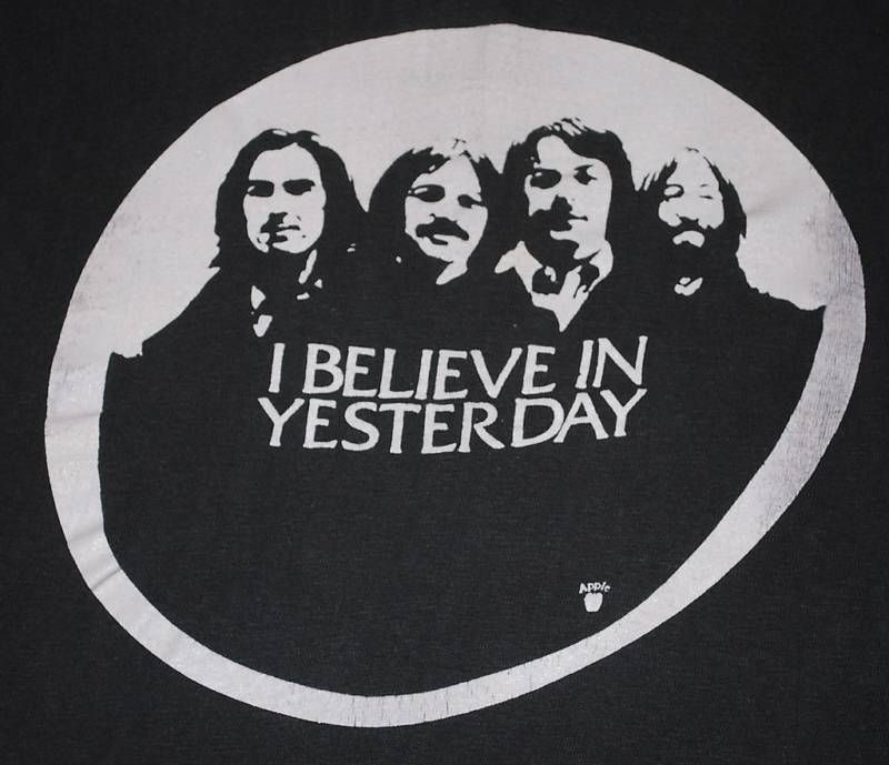 VINTAGE THE BEATLES I BELIEVE IN YESTERDAY T- SHIRT 1970s RARE
