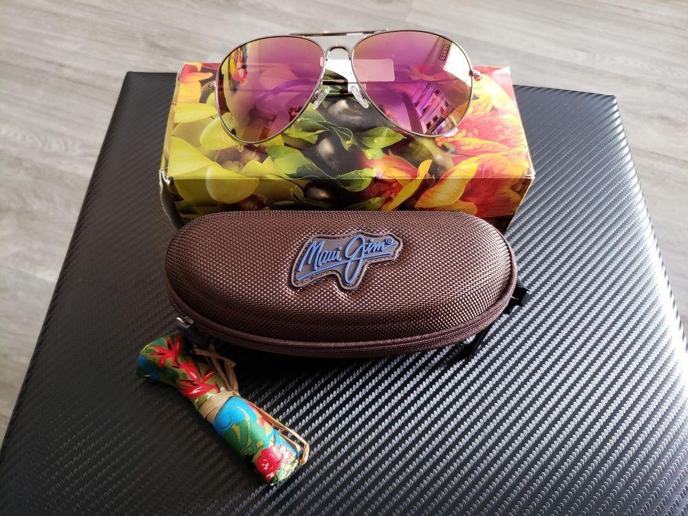 4dcf4f50a3e MAUI JIM MAVERICKS POLARIZED P264-16R SUNGLASSES ROSE GOLD MAUI SUNRISE  LENS NEW  fashion  clothing  shoes  accessories  unisexclothingshoesaccs ...