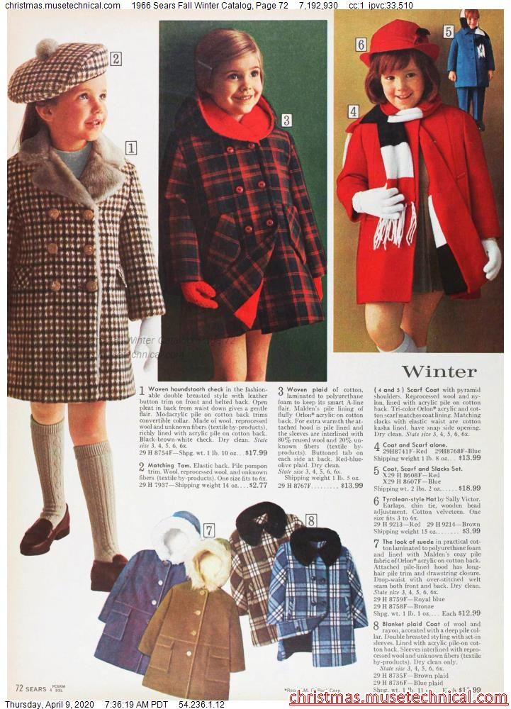 1966 Sears Fall Winter Catalog, Page 72 - Christma