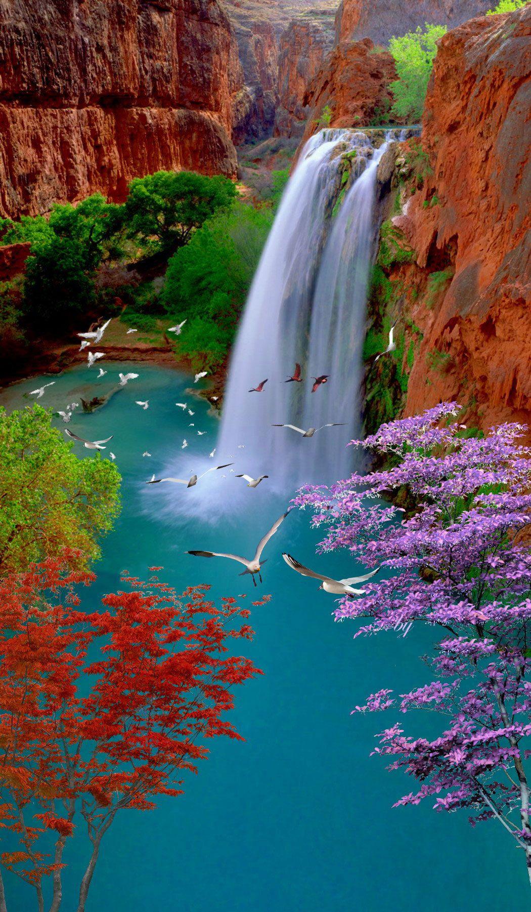 Visual Escape Beautiful Photography Nature Waterfall Photography Beautiful Nature Wallpaper