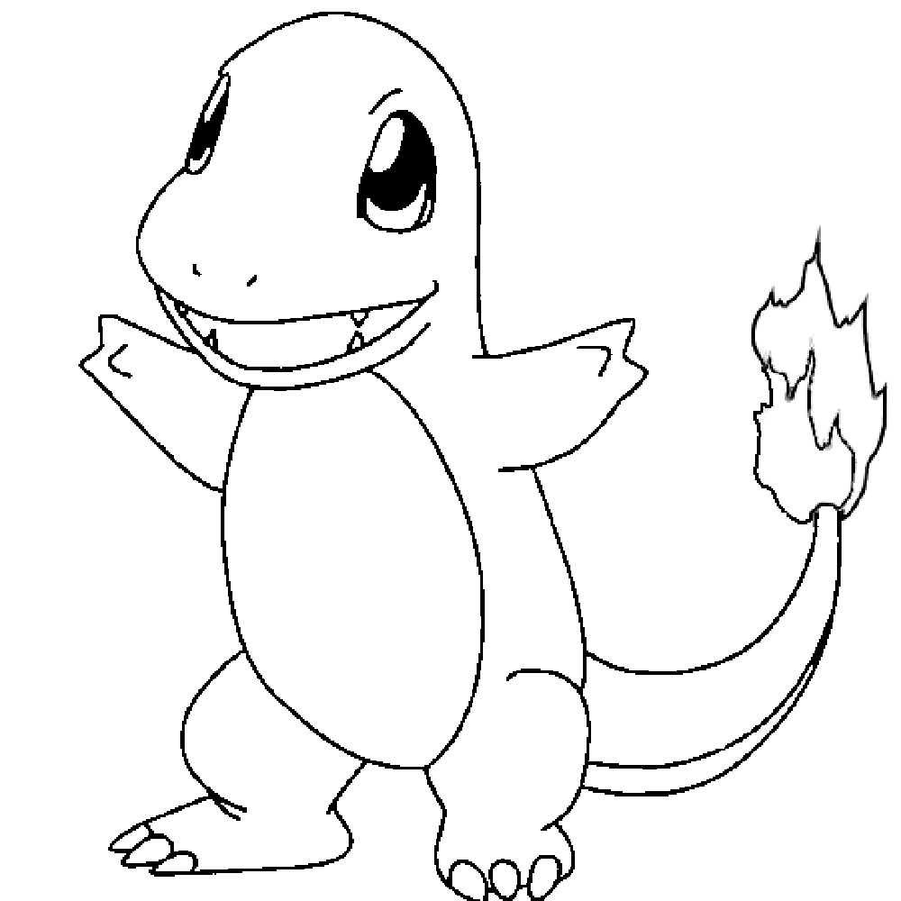 pokemon charmander coloring pages for kids printable pokemon coloring pages for kids