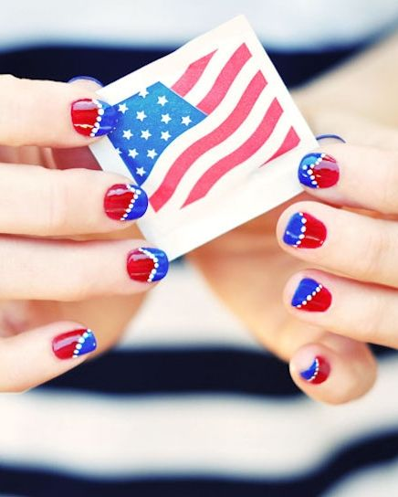 4th Of July Nails Pinterest Manicure Nail Art Pen And