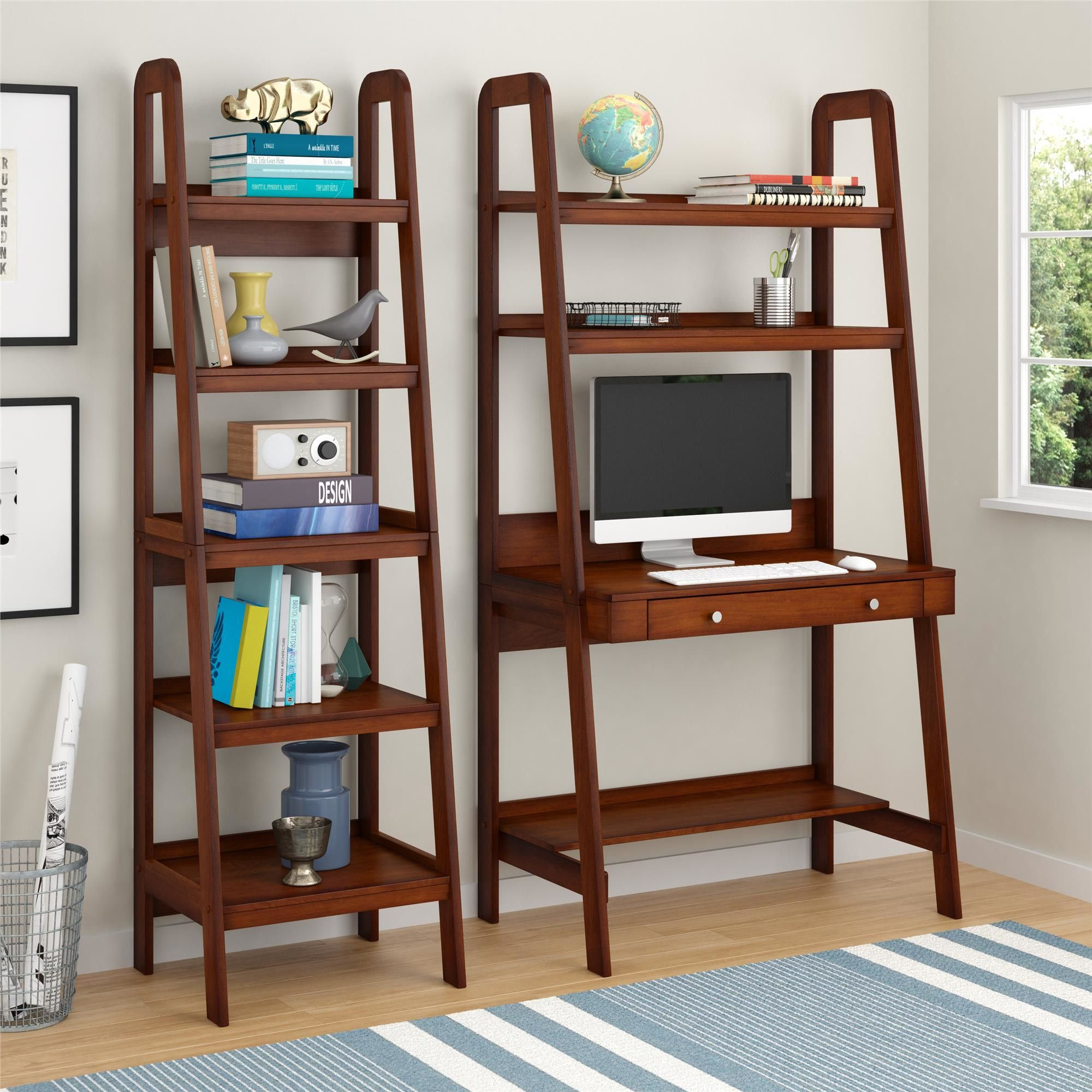 Altra Platform Leaning Desk Bookshelf Desk Home Home Decor