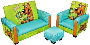 Warner Brothers Scooby Doo Deluxe Toddler Living Room Set Furniture Decor