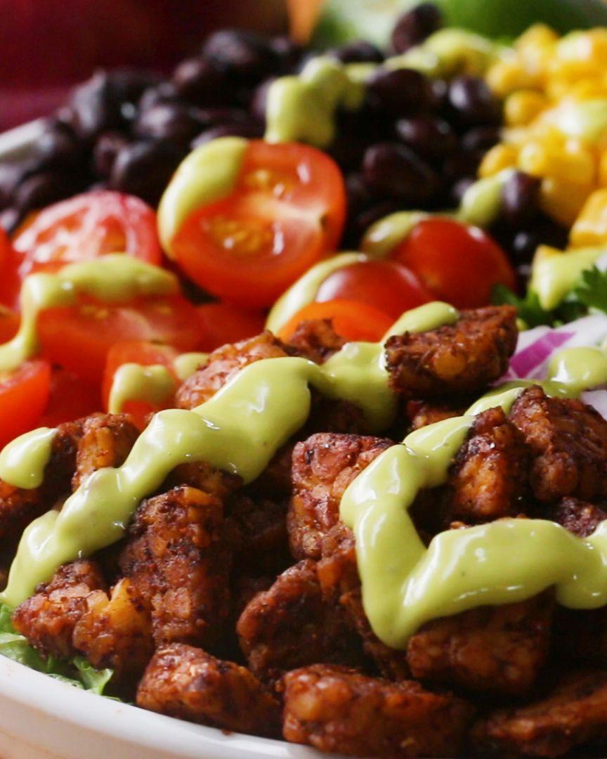 Tempeh Taco Salad Recipe by Tasty