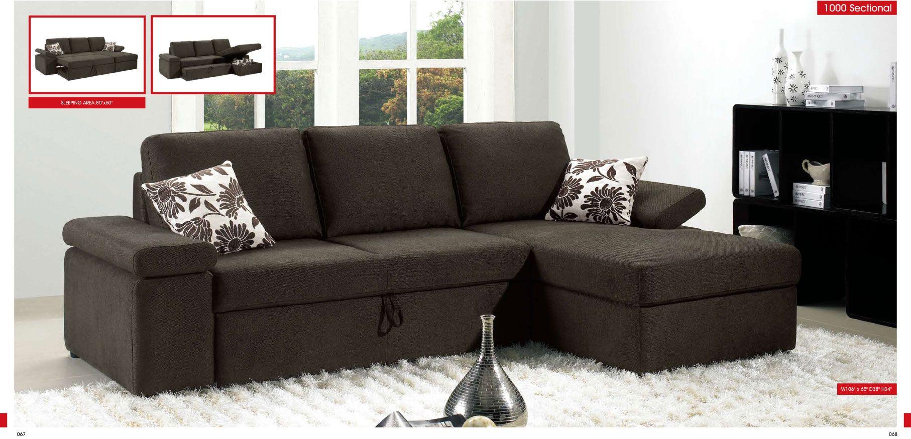 Pull Out Sofa Bed With Storage Esf Sectional Contemporary Sectional