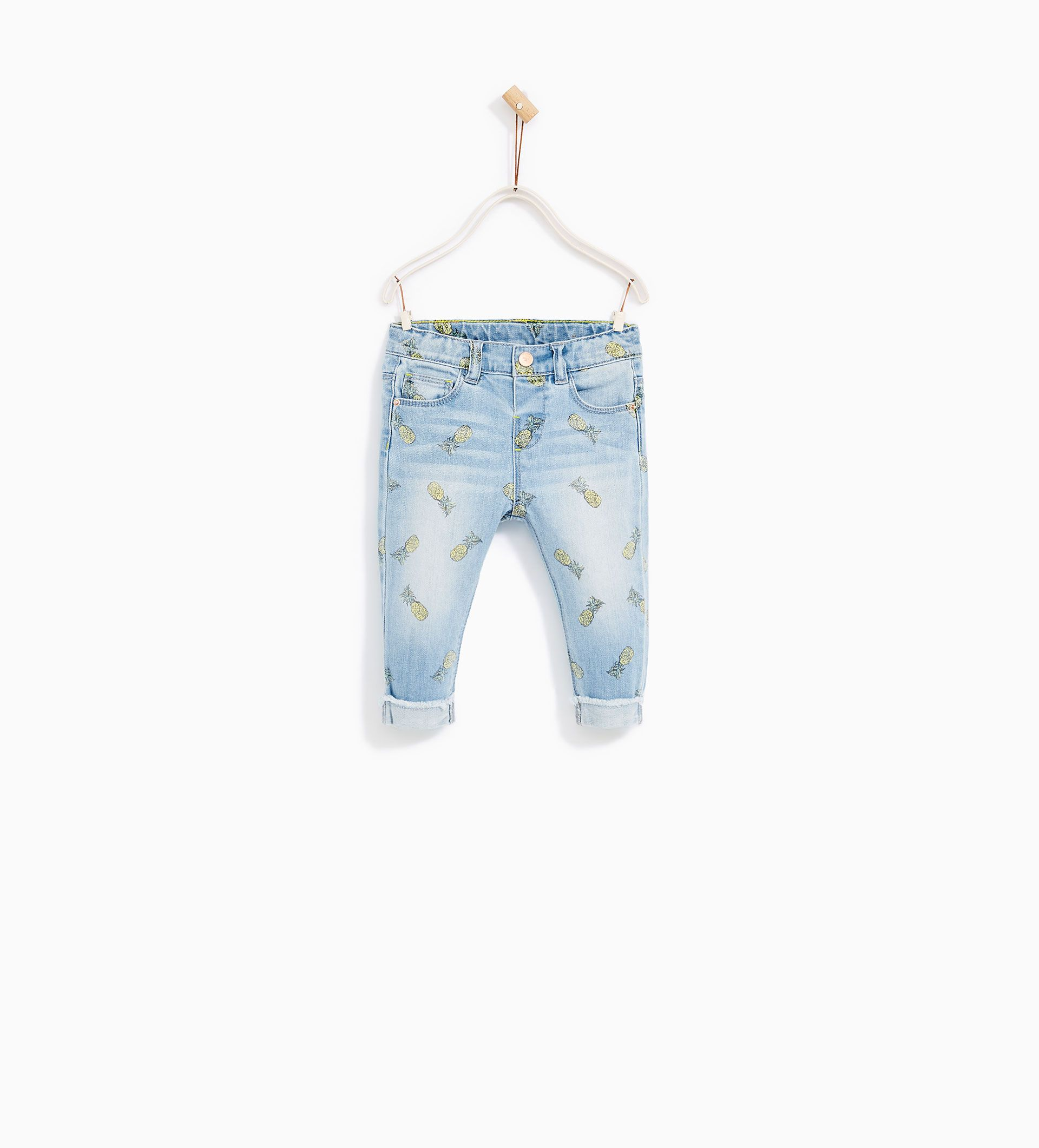 f7236037 Image 1 of PINEAPPLE PRINT JEANS from Zara. Baby girl clothing ...