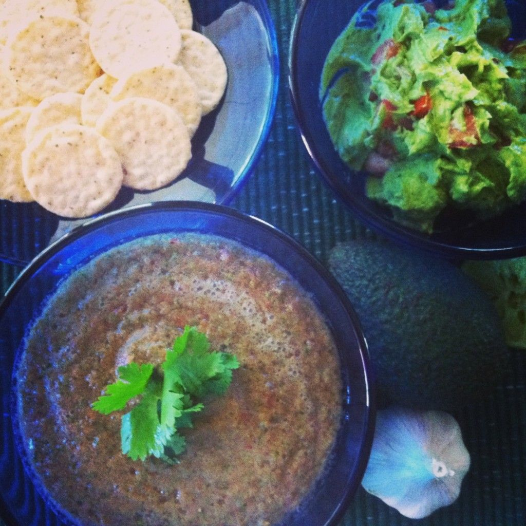 Eating Raw the easy way!   Guacamole and Salsa