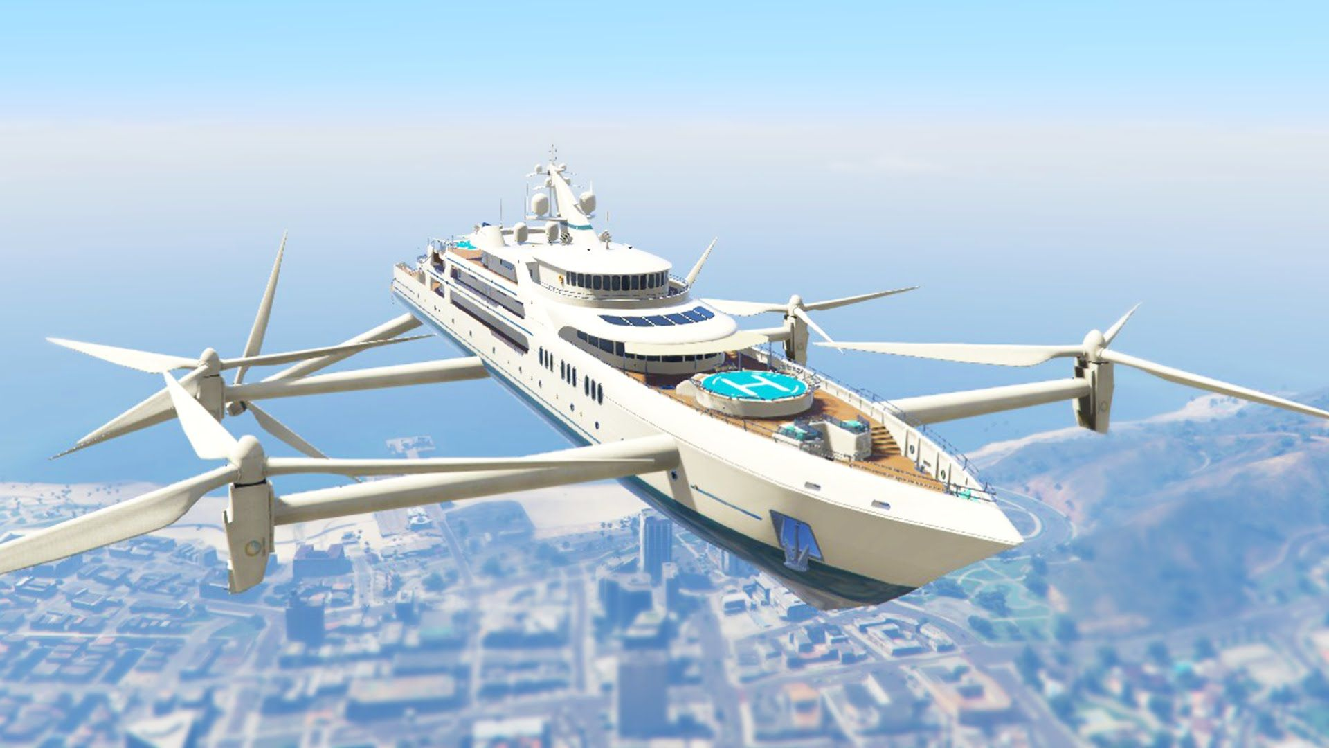 ULTIMATE FLYING SUPER YACHT MOD! (GTA 5 Mods Funny Moments)   YouTube Amazing Pictures