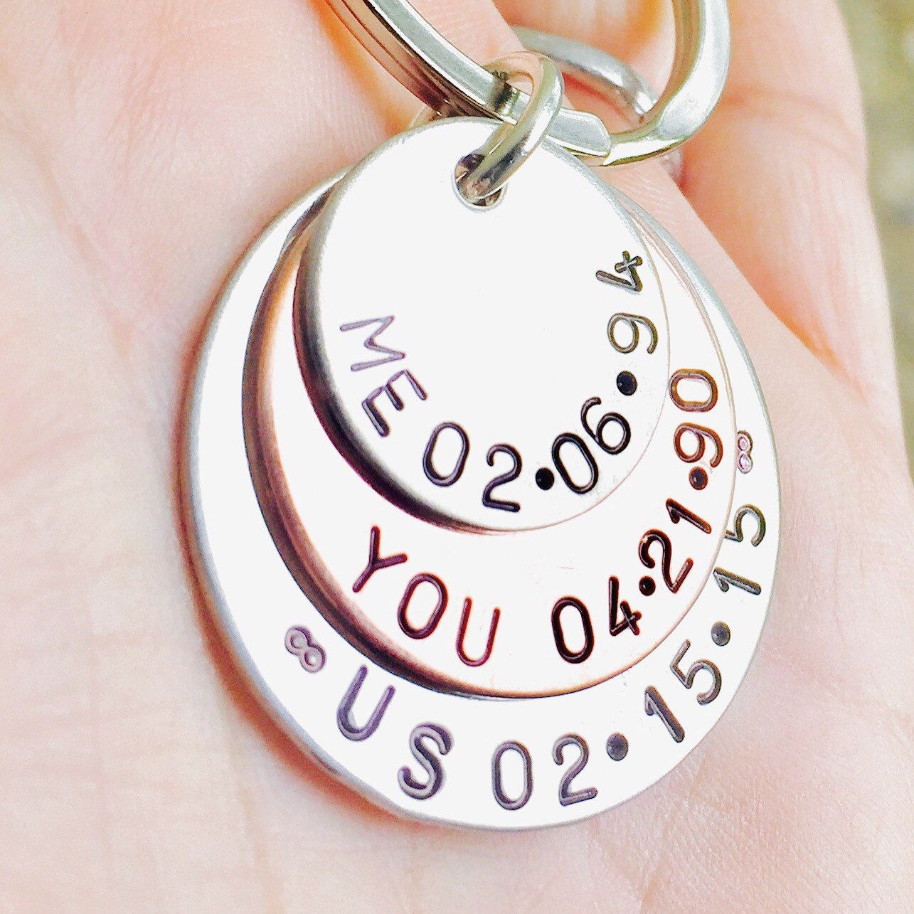 Thoughtful Gifts For Boyfriend Christmas: Me You Us Personalized Keychain,Valentines For Him, Gifts