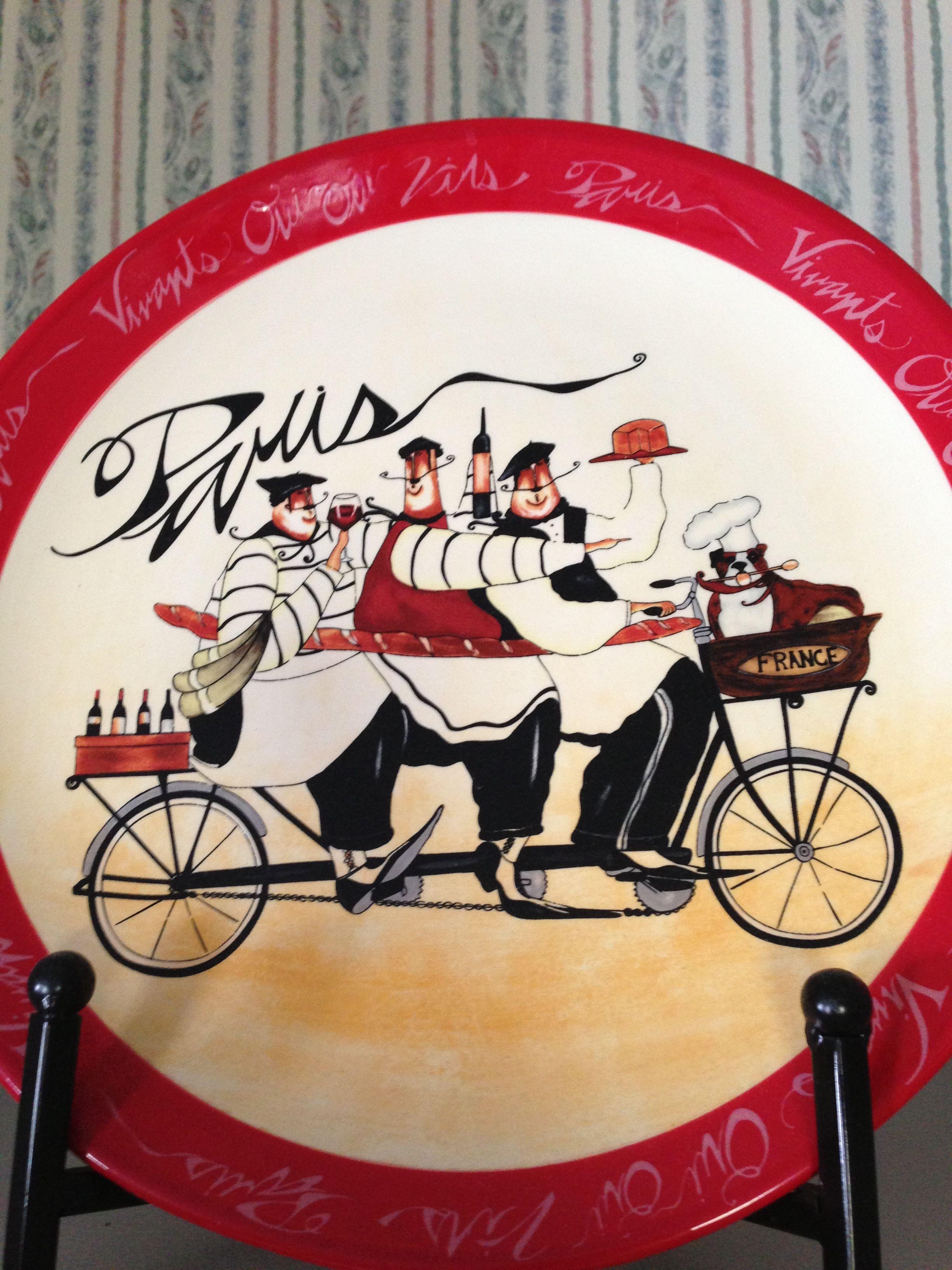 jennifer garant plate from hobby lobby paris wine chef kitchen