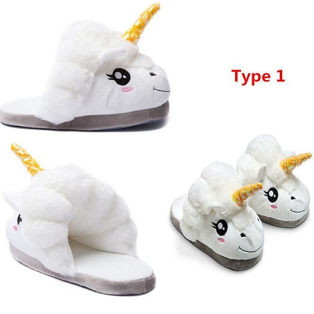 Photo of New Winter Indoor Slippers Plush Home Shoes Unicorn Slippers for Men Women Warm Home Slippers Shoes pantofole unicorno 5 Types