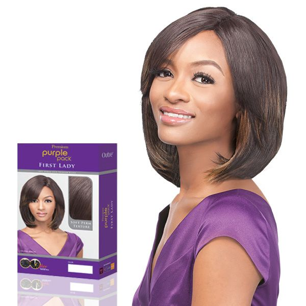 Outre 100 Human Hair Blend Weaving Premium Purple Pack First Lady
