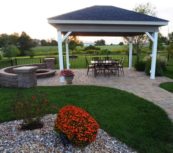 Covered Outdoor Dining Area And Fire Pit Backyard Ideas Backyard With Covered Outdoor Dining Area And F Backyard Landscaping Outdoor Fire Pit Backyard Dining