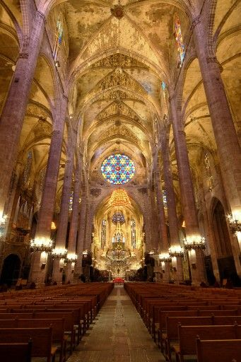 Interior Catedral De Palma M Cathedral Mallorca Sacred Places