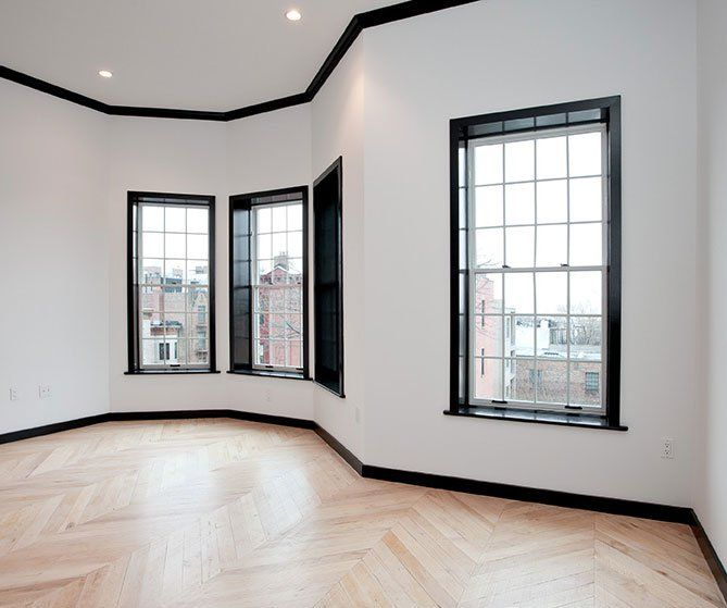 Love Quotes About Life: Black Door Frames And Reclaimed Maple Floors