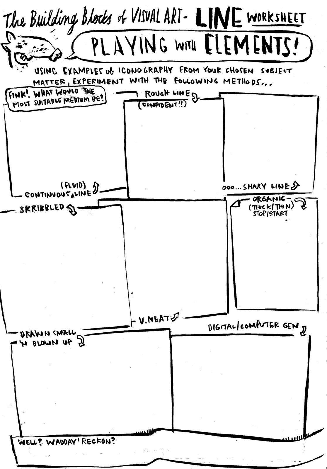 Worksheets Elements Of Art Worksheets dan haycocks blog unbatondecolle lookowwwwwt worksheet avalanche art worksheetsart elements2d