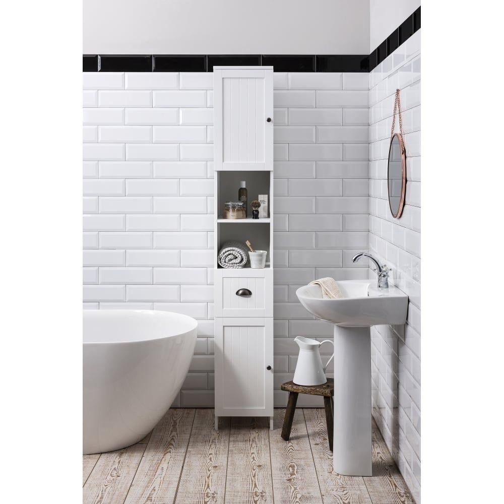 Noa and Nani Stow Tallboy Bathroom Cabinet Hallway Storage Unit in ...