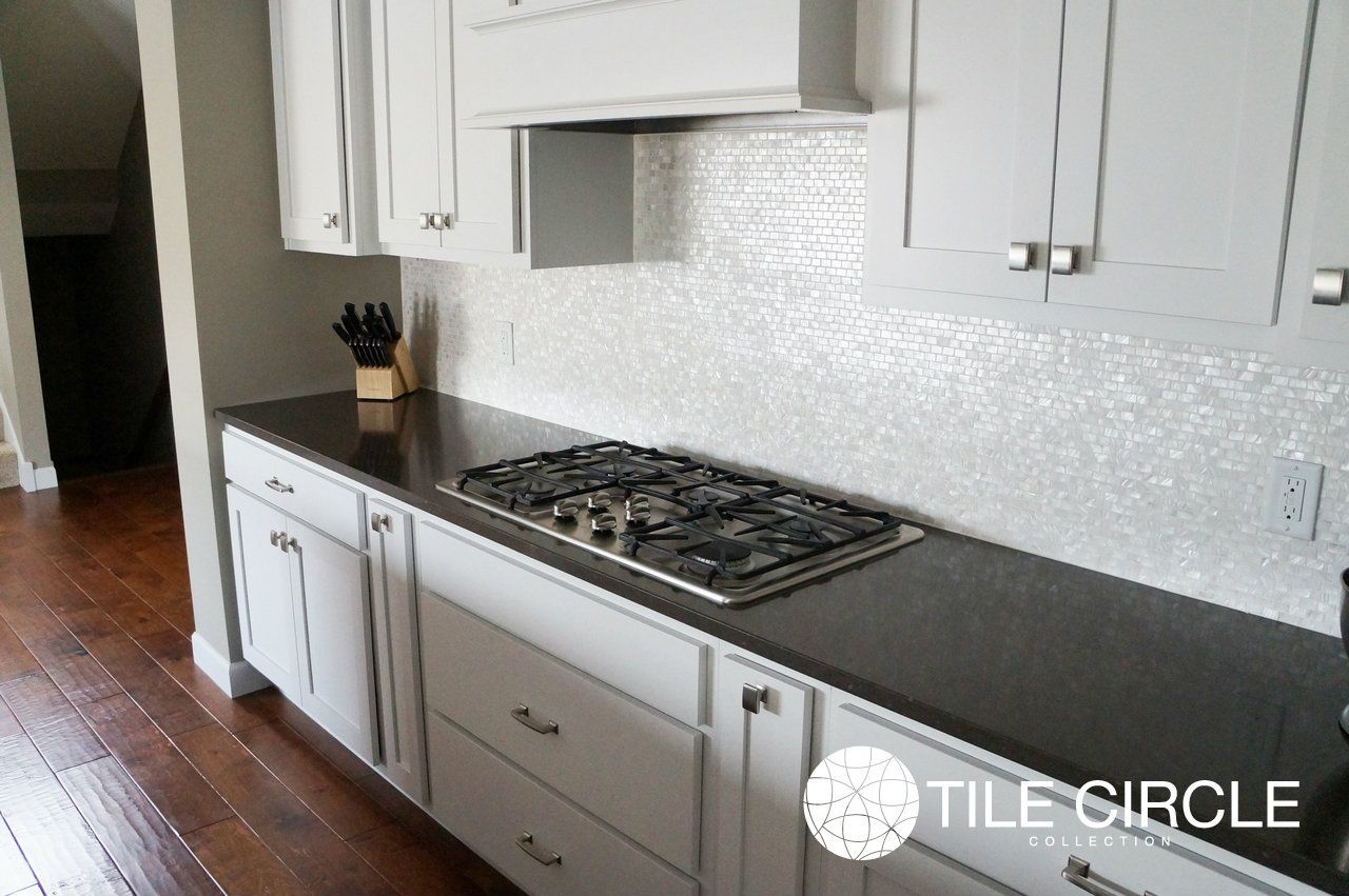 I love white pearl mosaic tile but this is kinda boring reminder beautiful mother of pearl tile for home improvement kitchen design with white cabinet and mother of pearl tile also maya romanoff mother of pearl with dailygadgetfo Images