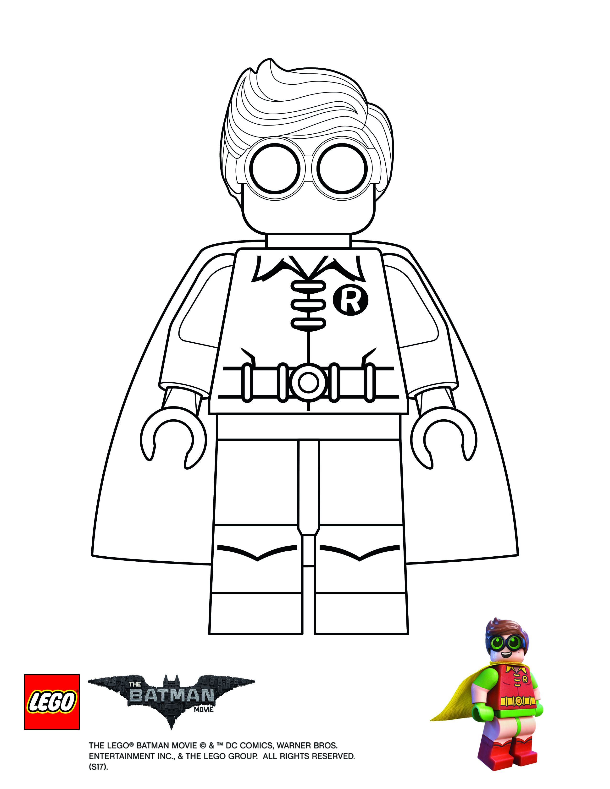 Lego Batman Movie Robin Coloring Page Legos Pinterest Lego