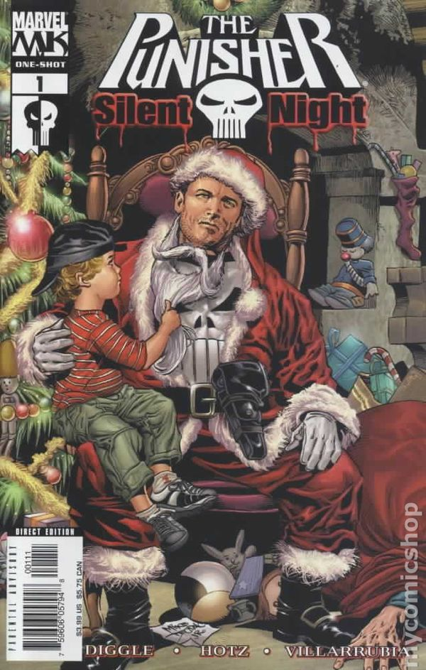 Punisher Silent Night (2005) 1 Marvel Comics Christmas Special Holiday issue comic book cover
