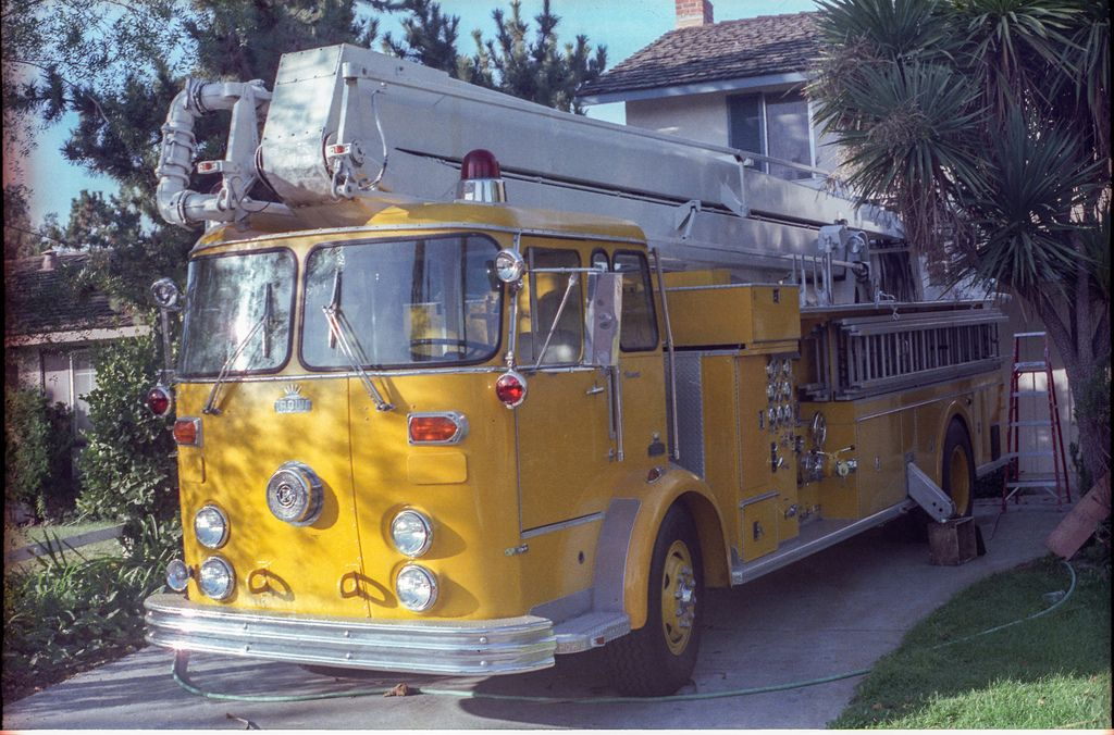 A 1966 Crown/Snorkel 65ft Elevating Platform. Was Truck 1 in the late 60's thru approx 1972, when a new Crown/Snorkel arrived. Then she became Truck 4. | Flickr - Photo Sharing!