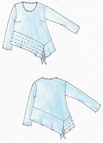 Schnittmuster Lagenlook Pulli Goa Gr. XL 52/54   Kleider nähen ...