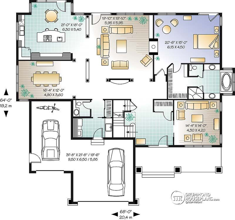 house plan East lake No. 2663 Two story house design
